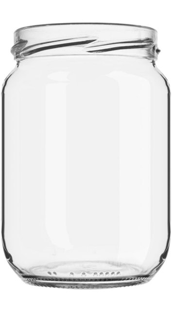 GLASS JAR BOR 580 ml